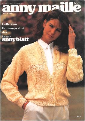 CATALOGUE COLLECTOR ANNY MAILLE - ANNY BLATT 32 Année 1981